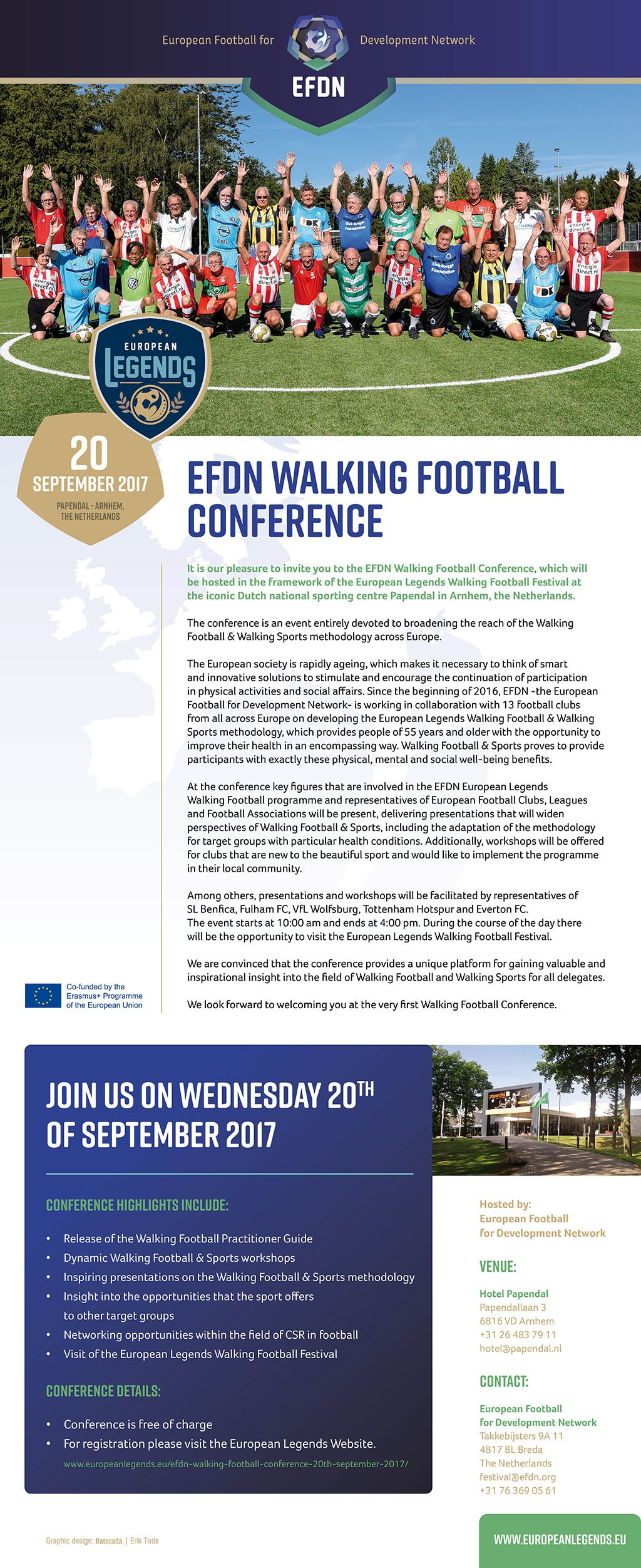 Invitation Walking Football Conference